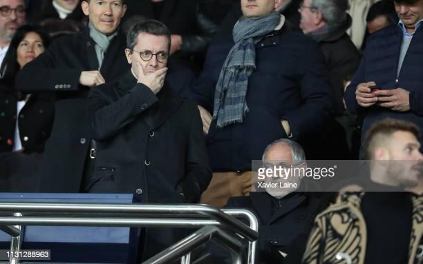 JacquesHenri Eyraud and Andoni Zubizarreta of Olympique de Marseille attend the Ligue 1 match between Paris SaintGermain and Olympique de Marseille...