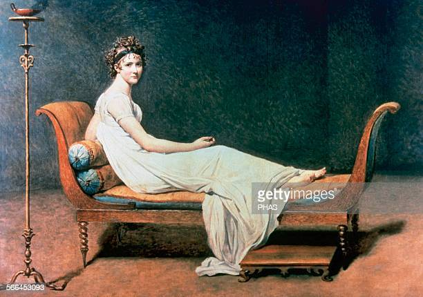 JacquesLouis David French painter in the Neoclassical style Madame Recamier Louvre Museum Paris France