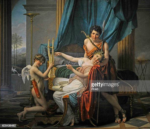 JacquesLouis David French painter Neoclassical style Sappho and Phaon 1809 Oil on canvas Hermitage Museum St Petersburg Russia