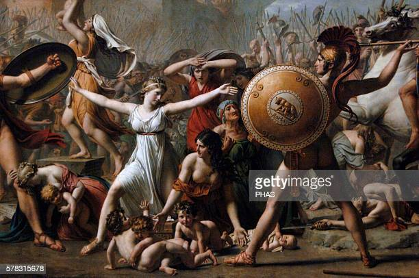 JacquesLouis David French painter Neoclassical The Intervention of the Sabine Women 1799 Louvre Paris France
