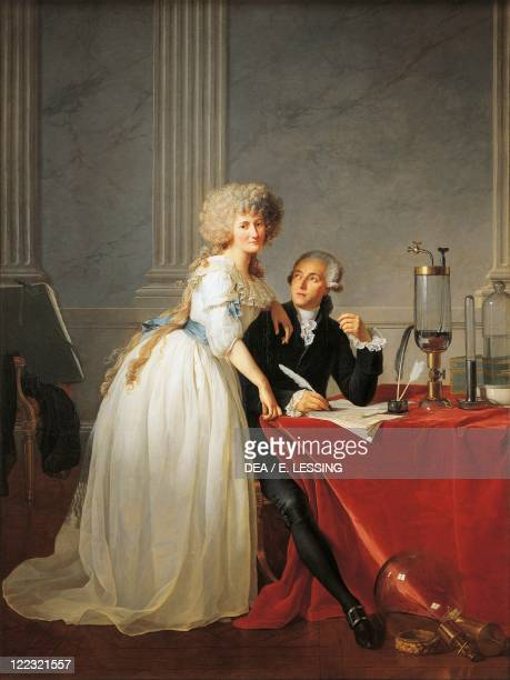 JacquesLouis David Portrait of Antoine Laurent Lavoisier French chemist with his Wife 1788