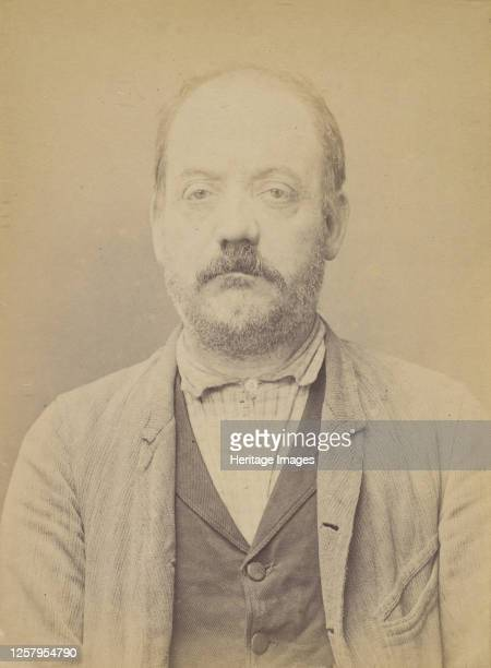 Jacquet. Hippolyte, Edouard. 49 ans, n� le 15/3/45 � Paris Ille. Sellier-maroquinier. Anarchiste. 3/7/94, 1894. Artist Alphonse Bertillon.