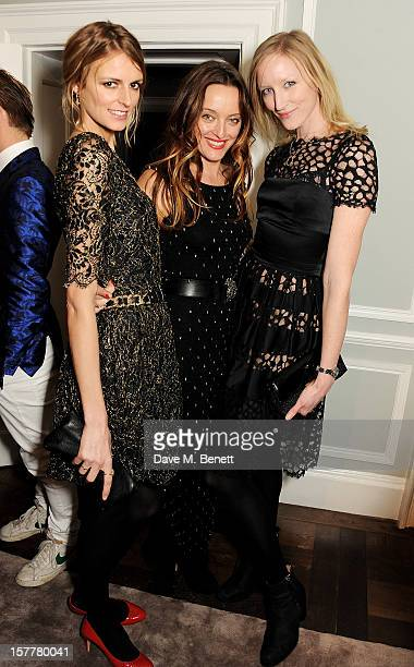 Jacquetta Wheeler Alice Temperley and Jade Parfitt attend the launch of Temperley London's Mayfair flagship store on December 6 2012 in London England