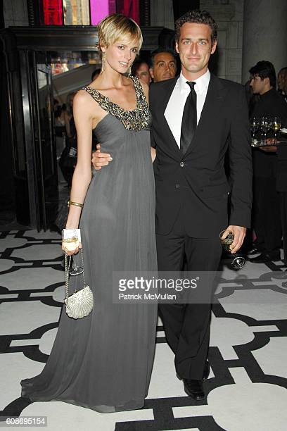 Jacquetta Wheeler and Alexi Lubomirski attend The 2007 CFDA Fashion Awards at The New York Public Library on June 4 2007 in New York City