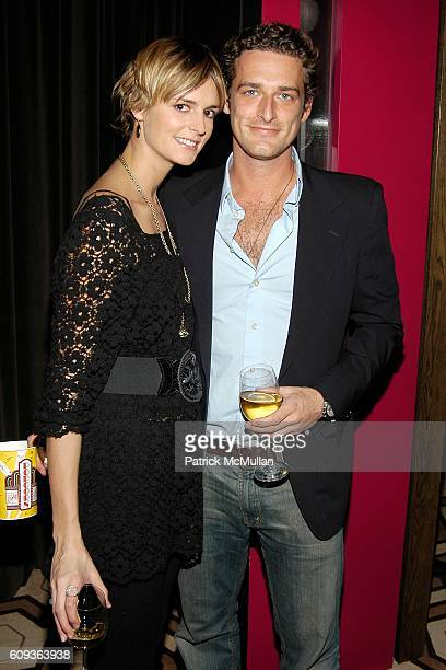 Jacquetta Wheeler and Alexi Lubomirski attend THE CINEMA SOCIETY CALVIN KLEIN present a screening of FACTORY GIRL at Tribeca Grand Hotel on January...