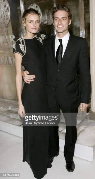 Jacquetta Wheeler and Alexi Lubomirski during Paris Fashion Week Ready to Wear Fall/Winter 2005 Harper's Bazaar Party at Plaza Athene in Paris France
