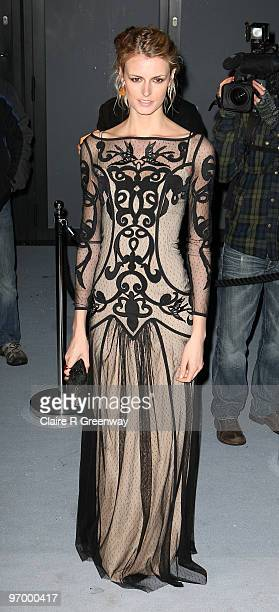 Jacquetta Wheeler arrives at the Love Ball in aid of The Naked Heart Foundation at The Roundhouse on February 23 2010 in London England The charity...