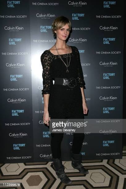 """Jacquetta Wheeler during The Cinema Society and Calvin Klein Host a Screening of """"Factory Girl"""" - Arrivals at Tribeca Grand Screening Room in New..."""