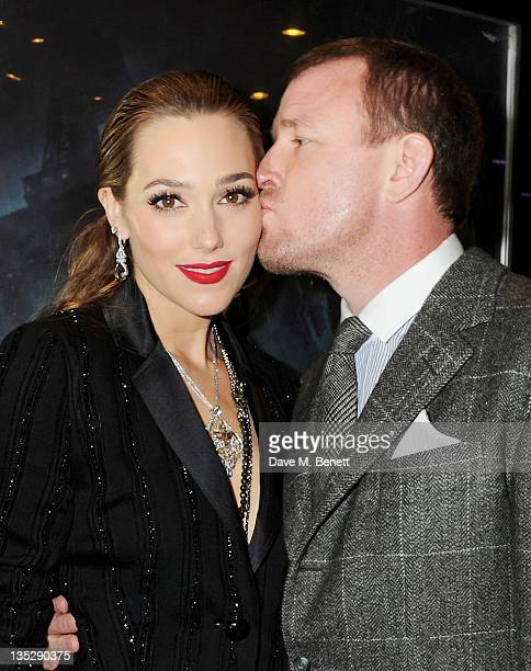 Jacqui Ainsley and director Guy Ritchie arrive at the European Premiere of 'Sherlock Holmes A Game of Shadows' at Empire Leicester Square on December...