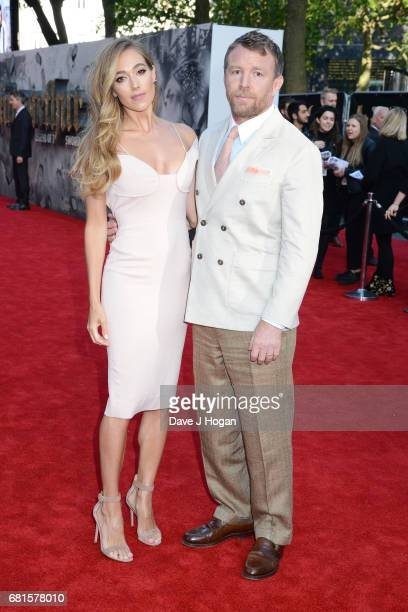 Jacqui Ainsley and director Guy Ritchie attend the European premiere of 'King Arthur Legend of the Sword' at Cineworld Empire on May 10 2017 in...