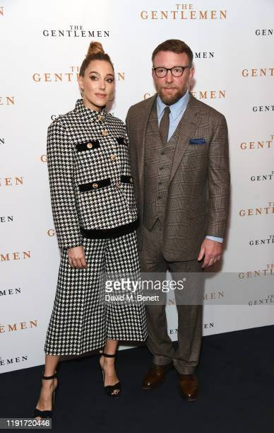 """Jacqui Ainsley and Guy Ritchie attend a special screening of """"The Gentlemen"""" at The Curzon Mayfair on December 03, 2019 in London, England."""