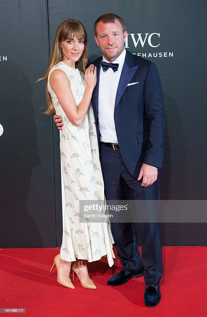 Jacqui Ainsley and Guy Ritchie attend the BFI Luminous Funraising Gala at The Guildhall on October 6, 2015 in London, England.