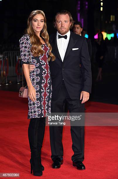 Jacqui Ainsley and Guy Ritchie attend the closing night Gala screening of 'Fury' during the 58th BFI London Film Festival at Odeon Leicester Square...