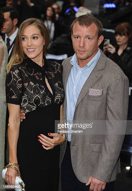 Jacqui Ainsley and Guy Ritchie attend the European premiere of Dark Knight Rises at Odeon Leicester Square on July 18 2012 in London England