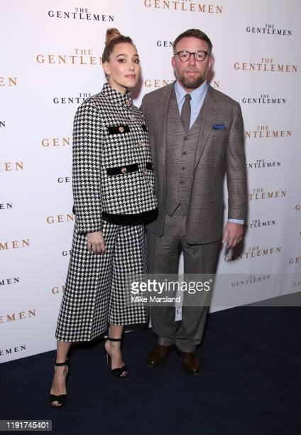 Jacqui Ainsley and Guy Ritchie attend The Gentleman Special Screening at The Curzon Mayfair on December 03 2019 in London England