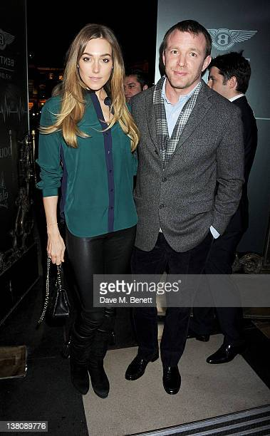 Jacqui Ainsley and Guy Ritchie attend the HR Owen and Boujis Mayfair Party to launch the Bentley Continental GT V8 in partnership with MasterCard's...