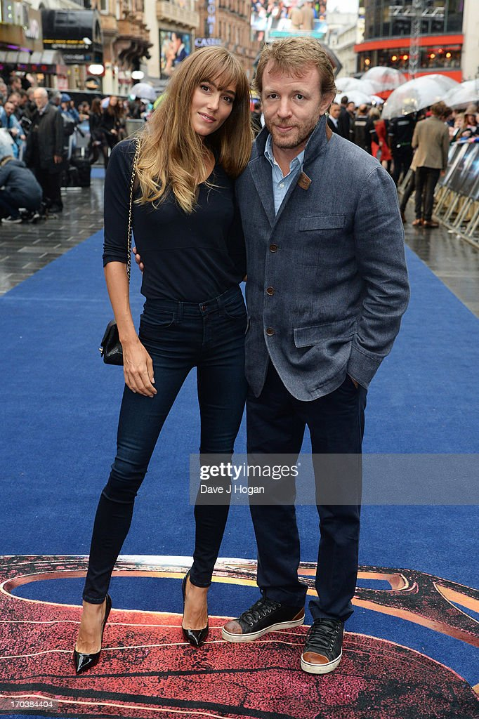 Jacqui Ainsley and Guy Ritchie attends the European premiere of 'Man Of Steel' at The Empire Leicester Square on June 12, 2013 in London, England.