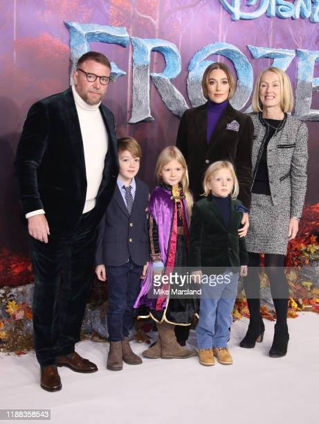 Jacqui Ainsley and Guy Ritchie attends the Frozen 2 European premiere at BFI Southbank on November 17 2019 in London England