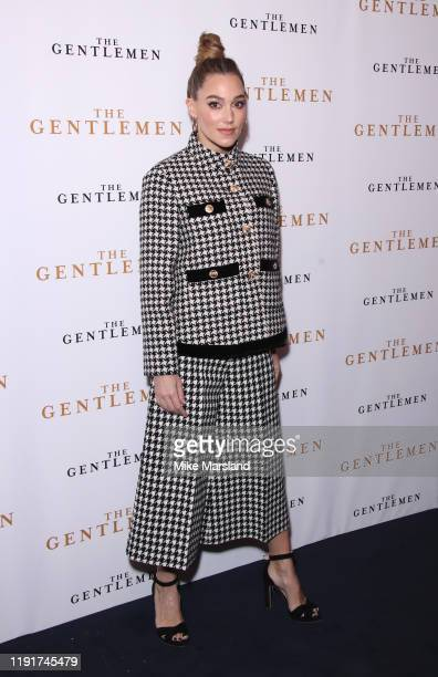 Jacqui Ainsley attends The Gentleman Special Screening at The Curzon Mayfair on December 03 2019 in London England