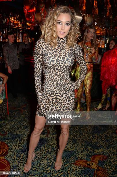 Jacqui Ainsley attends the Jungle Party at Annabel's on September 28 2018 in London England