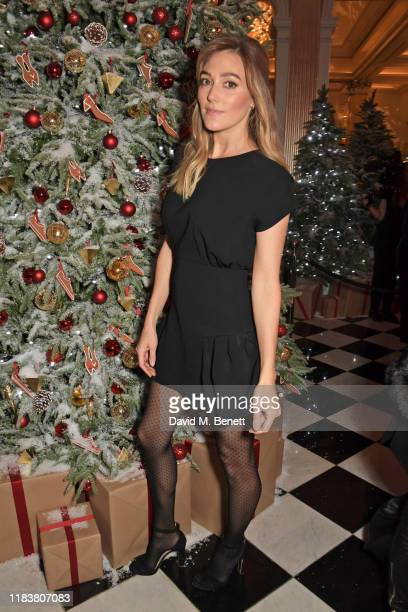 Jacqui Ainsley attends the launch of the Claridge's Christmas Tree 2019 designed by Christian Louboutin at Claridge's Hotel on November 21, 2019 in...