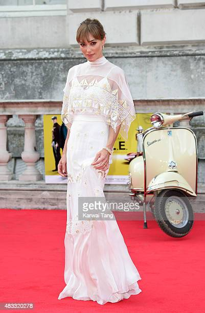 Jacqui Ainsley attends the people's premiere of 'The Man From UNCLE' during Film4 Summer Screenings at Somerset House on August 7 2015 in London...