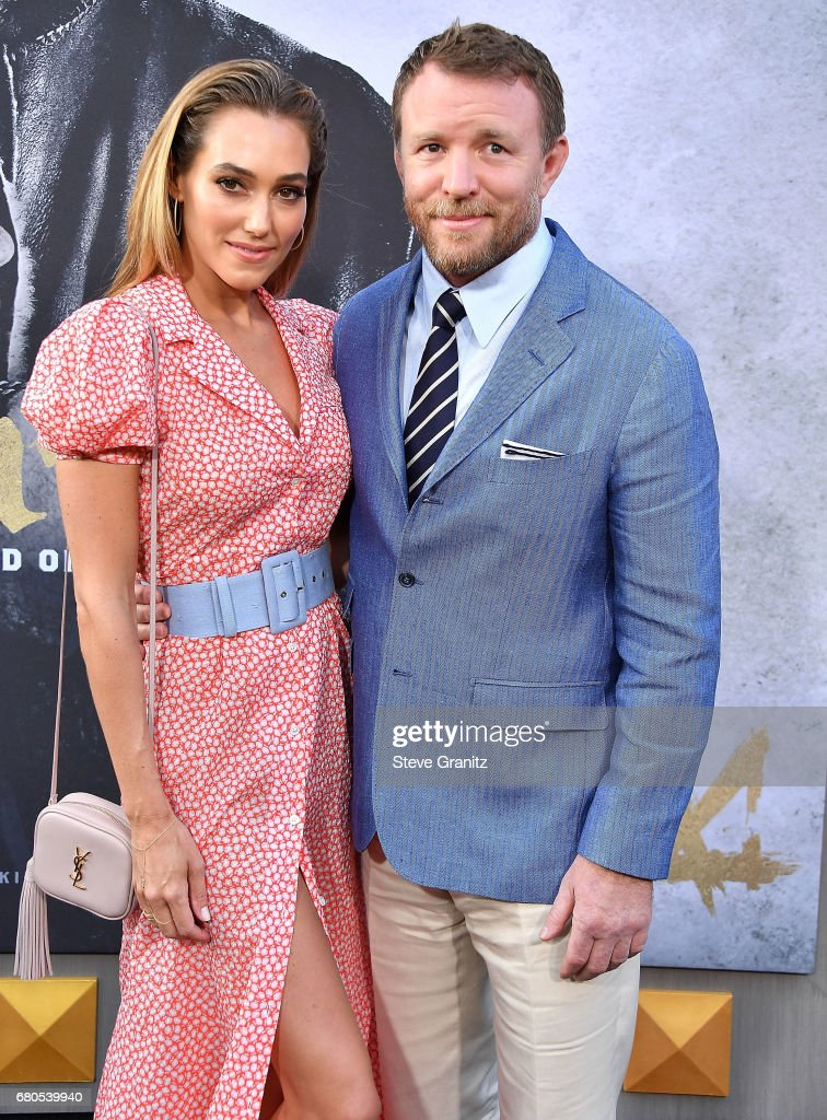 Jacqui Ainsley, Guy Ritchie arrives at the Premiere Of Warner Bros. Pictures' 'King Arthur: Legend Of The Sword' at TCL Chinese Theatre on May 8, 2017 in Hollywood, California.