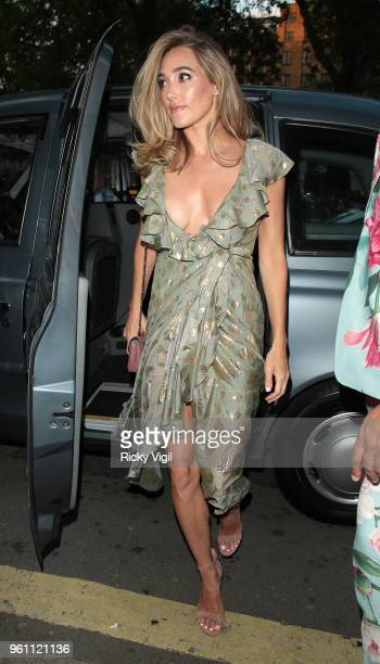 Jacqui Ainsley seen attending Annabel's x Dior dinner to celebrate the RHS Chelsea Flower Show on May 21 2018 in London England