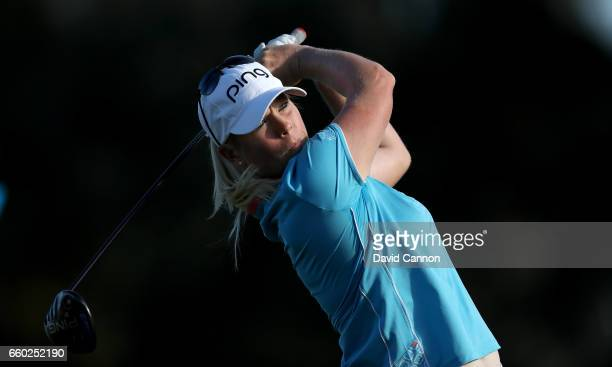 Jacqui Concolino of the United States in action during the proam as a preview for the 2017 ANA Inspiration held on the Dinah Shore Tournament Course...