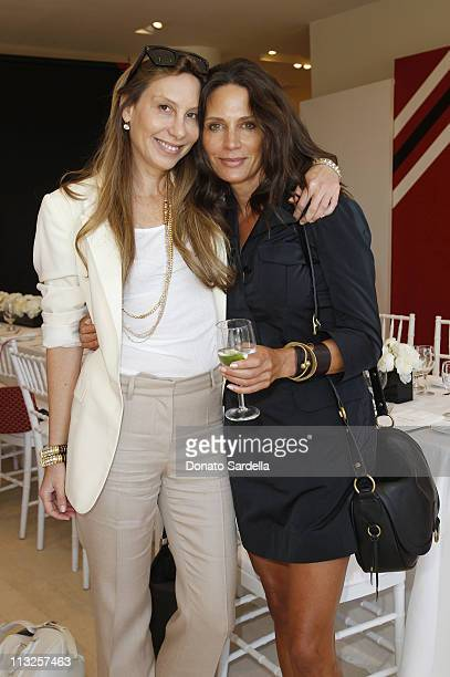 Jacqui Getty and Kendall Conrad attend Barneys New York And Vogue Lunch To Celebrate Goyard Hosted By Amanda Brooks And Lawren Howell at Barneys New...