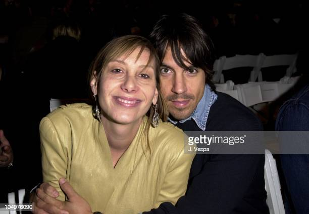 Jacqui Getty Anthony Kiedis during MercedesBenz Fashion Week Rick Owens Fall 2002 Collection at 42nd 10th Studios in New York City New York United...