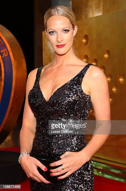Jacqui Morris arrives at the Allan Border Medal held at Crown Palladium on February 7 2011 in Melbourne Australia
