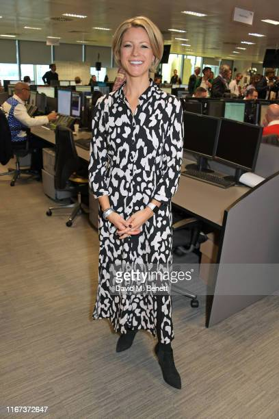 Jacqui Oatley representing The Sir Stanley Matthews Foundation attends BGC Charity Day at One Churchill Place on September 11 2019 in London England