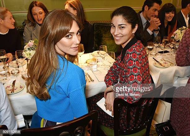 Jacqui Ritchie and Caroline Issa attend the LKBennett x Bionda Castana lunch at Mark's Club on February 9 2016 in London England