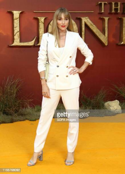 Jacqui Ritchie attends the European Premiere of Disney's The Lion King at the Odeon Luxe cinema Leicester Square in London