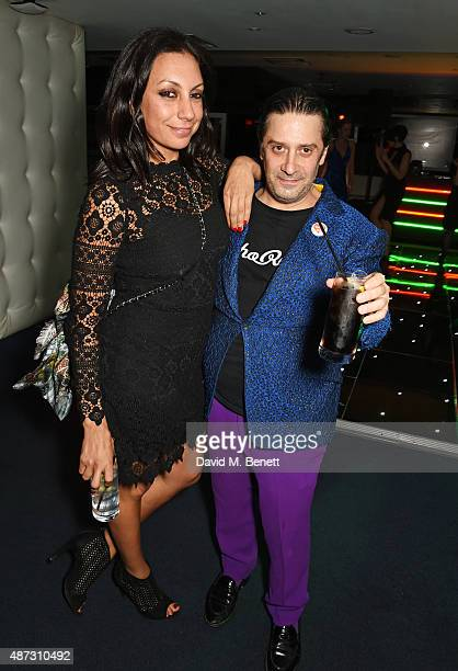 Jacqui Soliman and Bernie Katz attend the GQ Men Of The Year Awards after party at The Royal Opera House on September 8 2015 in London England