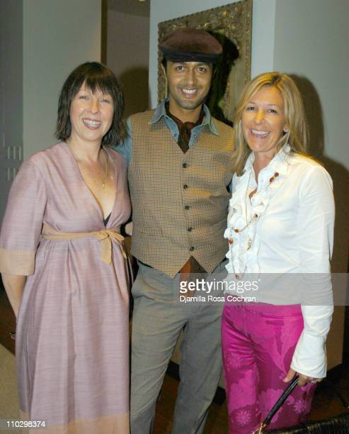 """Jacqui Wenzel, Tony Alcindor and Nina Lawrence during W Magazine's """"The New York Affair"""" Party at Penthouse Four in New York City, New York, United..."""