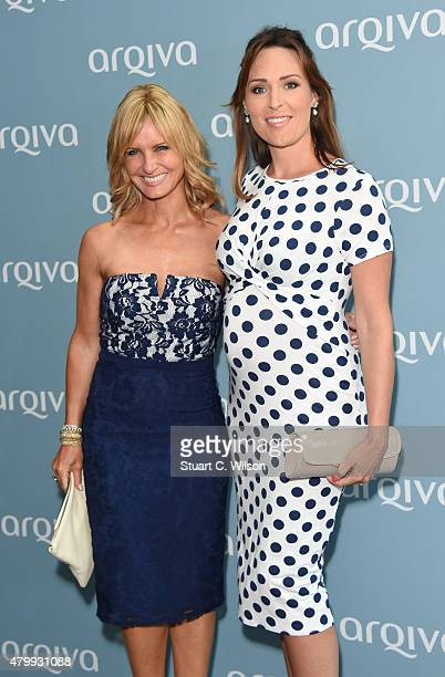 Jacquie Beltrao and Isabel Webster attend the Arqiva Commercial Radio Awards at The Roundhouse on July 8 2015 in London England