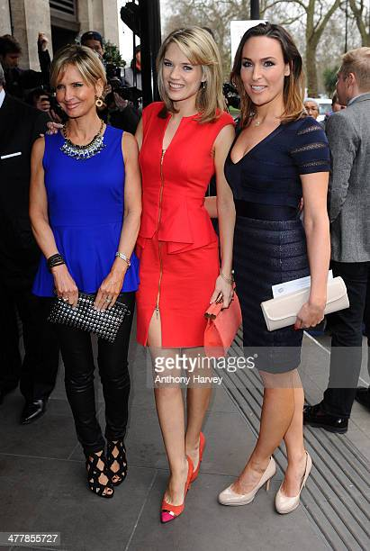 Jacquie Beltrao Charlotte Hawkins and Isabel Webster attend the 2014 TRIC Awards at The Grosvenor House Hotel on March 11 2014 in London England