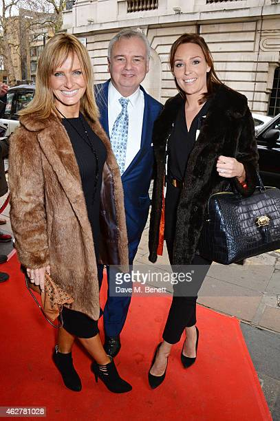 Jacquie Beltrao Eamonn Holmes and Isabel Webster attend a VIP Screening of Still Alice at The Curzon Mayfair on February 5 2015 in London England
