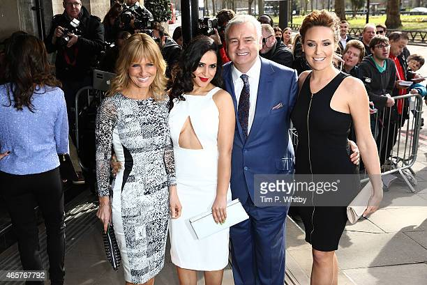 Jacquie Beltrao Nazaneen Ghaffar Eamonn Holmes and Isabel Webster attend the TRIC Awards on March 10 2015 in London England