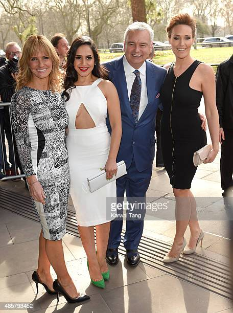 Jacquie Beltrao Nazaneen Ghaffar Eamonn Holmes and Isabel Webster attend the TRIC Awards at Grosvenor House Hotel on March 10 2015 in London England