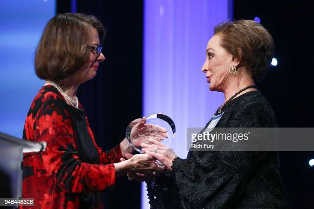 Jacquie Dolan presents Judy Beckmen with the Bob Frandzel Memorial Award during the CASA Of Los Angeles' 2018 Evening To Foster Dreams Galaat The...