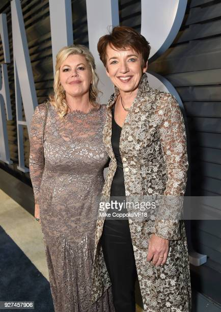 Jacquie Lawrence and CEO of Getty Images Dawn Airey attend the 2018 Vanity Fair Oscar Party hosted by Radhika Jones at Wallis Annenberg Center for...