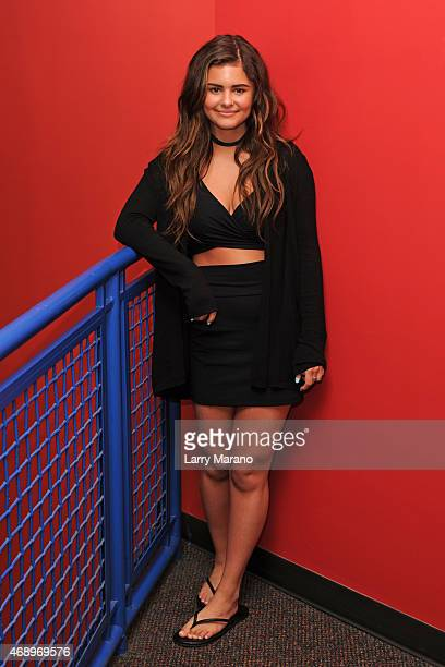 Jacquie Lee poses for a portrait at Y100 radio station on April 8 2015 in Miami Florida