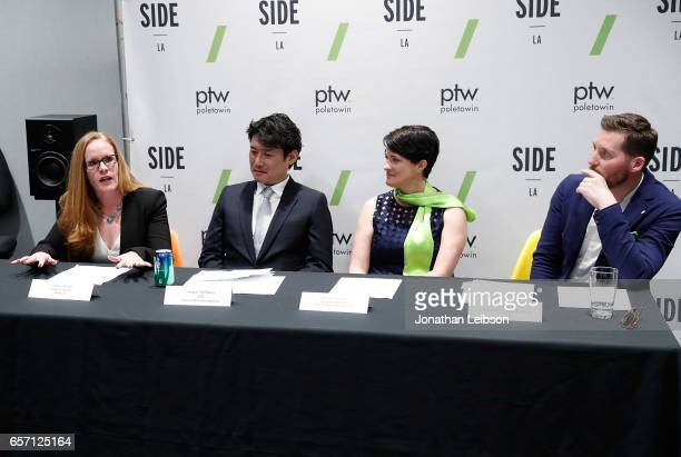 Jacquie Shriver Teppei Tachibana Deborah Kirkham and Andy Emery attend the SIDE LA Launch Party on March 23 2017 in Marina del Rey California