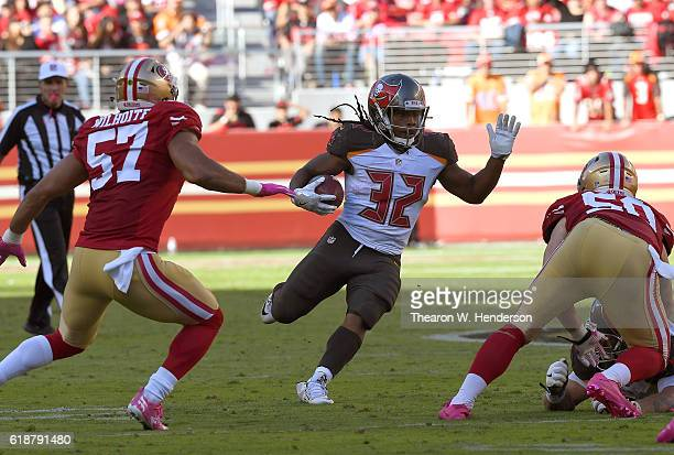 Jacquizz Rodgers of the Tampa Bay Buccaneers carries the ball against the San Francisco 49ers during the fourth quarter of an NFL football game at...