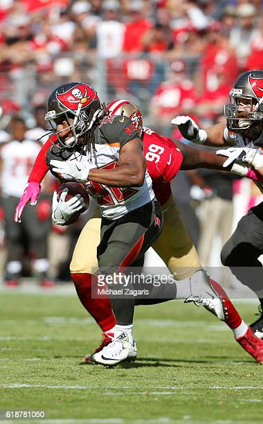 Jacquizz Rodgers of the Tampa Bay Buccaneers rushes during the game against the San Francisco 49ers at Levi Stadium on October 23 2016 in Santa Clara...