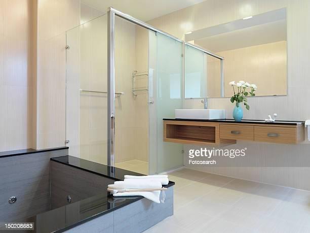 Jacuzzi tub in modern bathroom