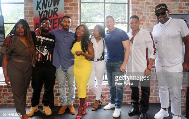 Jada Buford Charles Donalson Omari Hardwick Naturi Haughton Downtown Lesli Brown Joseph Sikora Rotemi and Luther Campbell all pose for photos during...